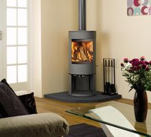 Dovre Astroline 3CB, wood or multi fuel 10kw with wood store