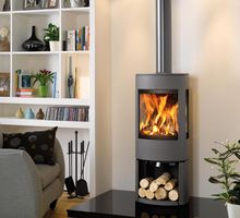 Dovre Astroline 4CB, wood or multi fuel 10 kw with wood store